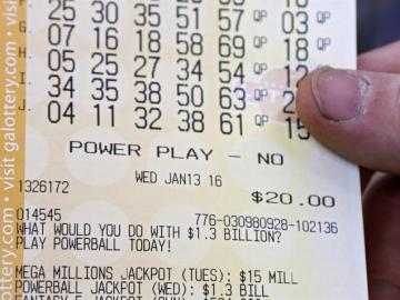Boleto de la lotería de EEUU de la semana previa