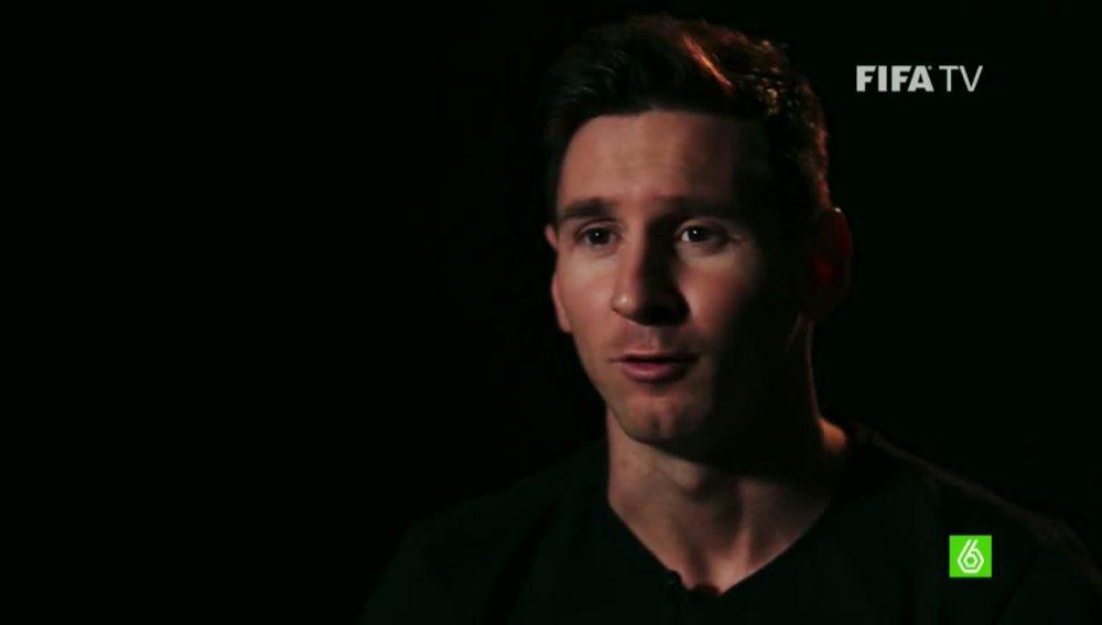 Messi en una entrevista