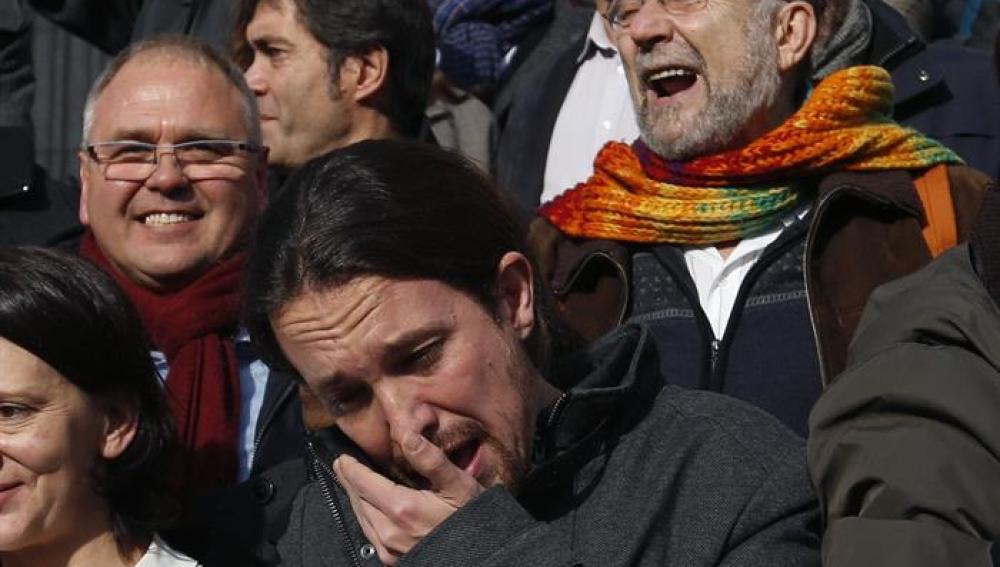 El lider de Podemos, Pablo Iglesias