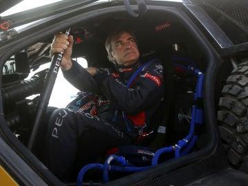 Carlos Sainz, en una etapa del Dakar 2016