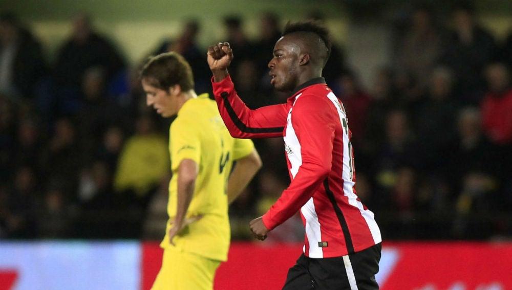 Williams celebra su gol ante el Villarreal