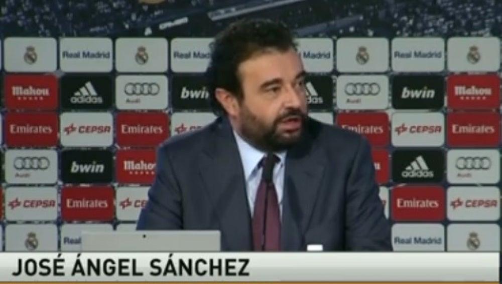 José Ángel Sánchez, director general del Real Madrid
