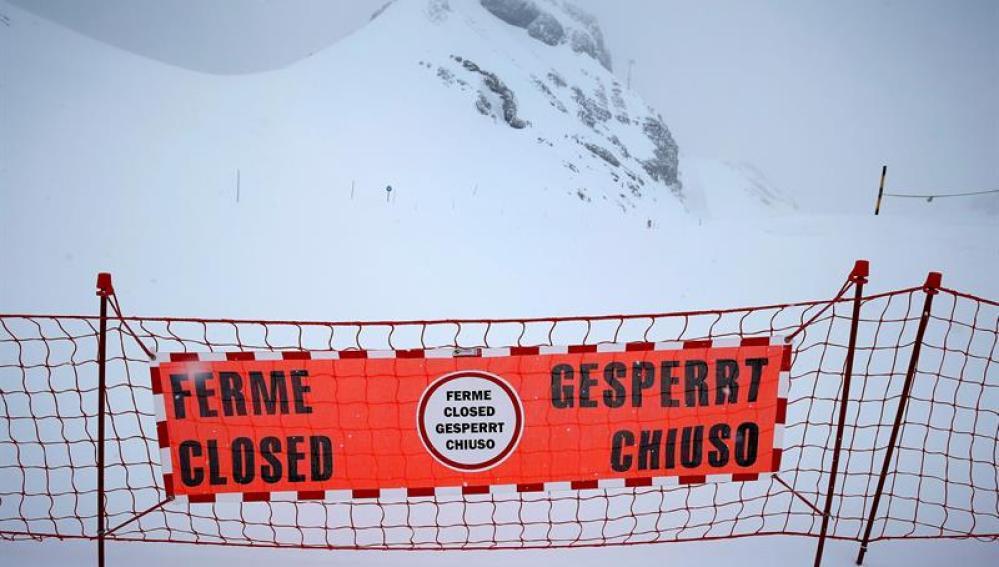 La pista donde se encontraban los escolares estaba cerrada desde principio de temporada