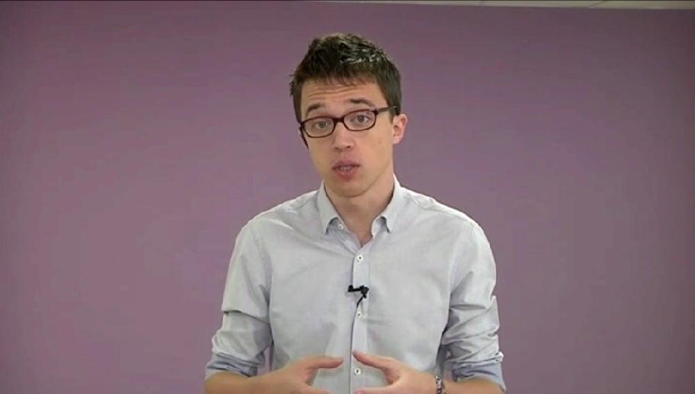 Iñigo Errejo, durante una entrevista en Espejo Público