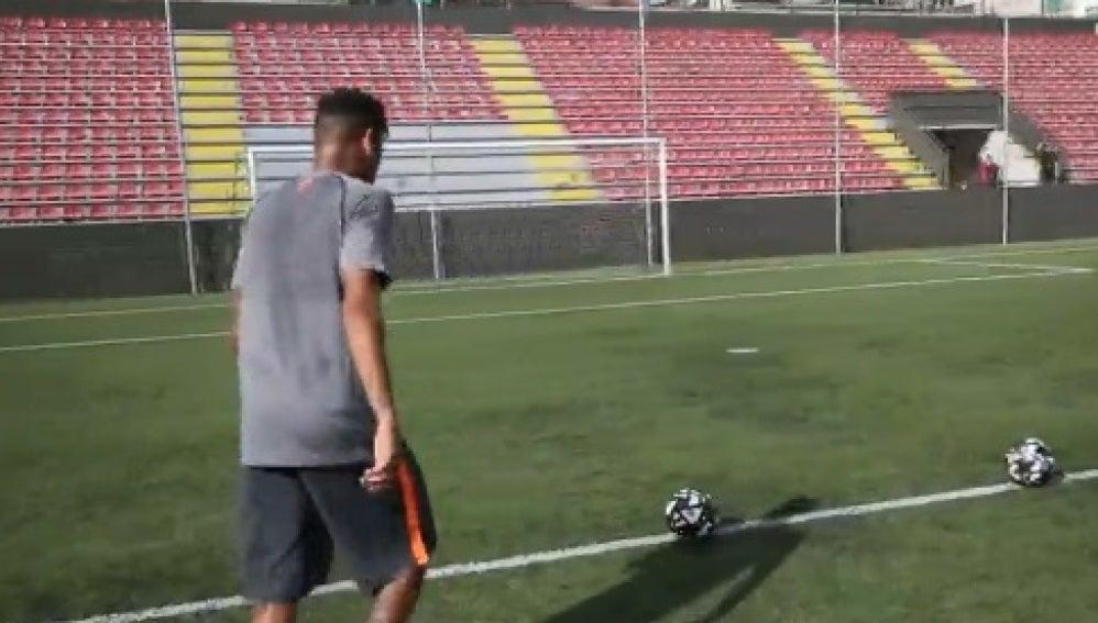 Neymar y su ejercicio de precisión
