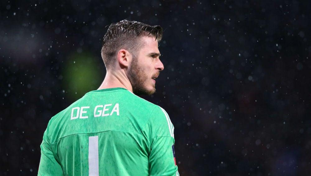 De Gea, en un partido del Manchester United