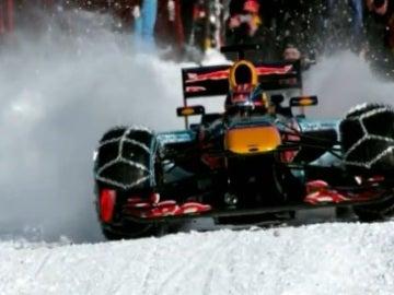 Verstappen, en plena exhibición sobre la nieve