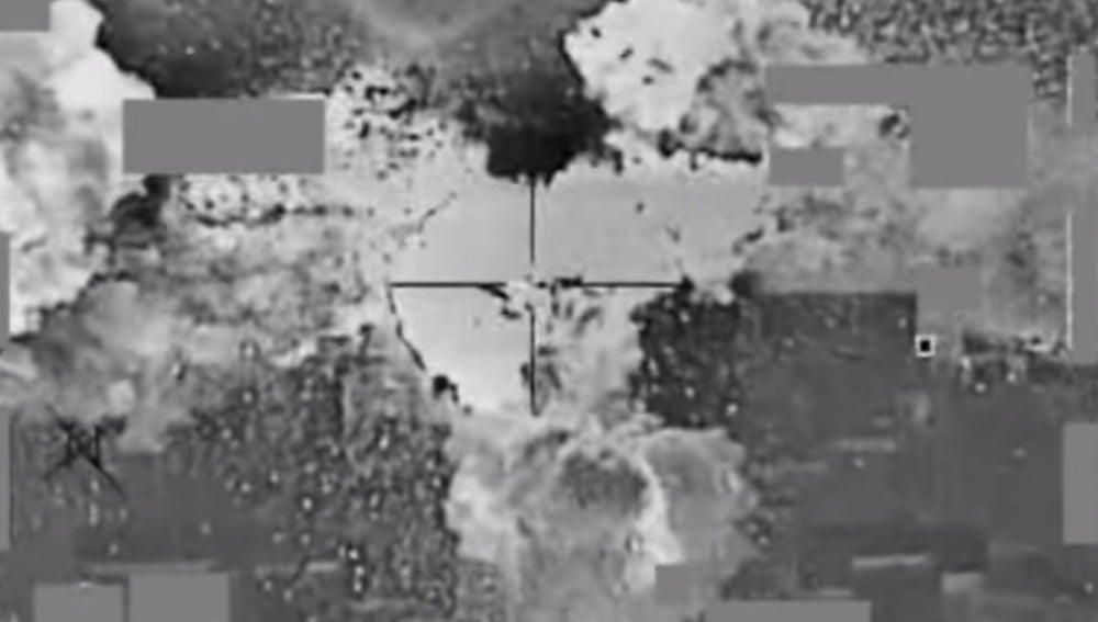 Imagen aérea del banco bombardeado
