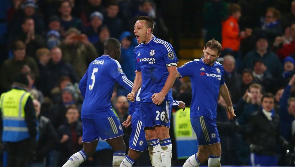 Terry celebra un gol frente al Everton