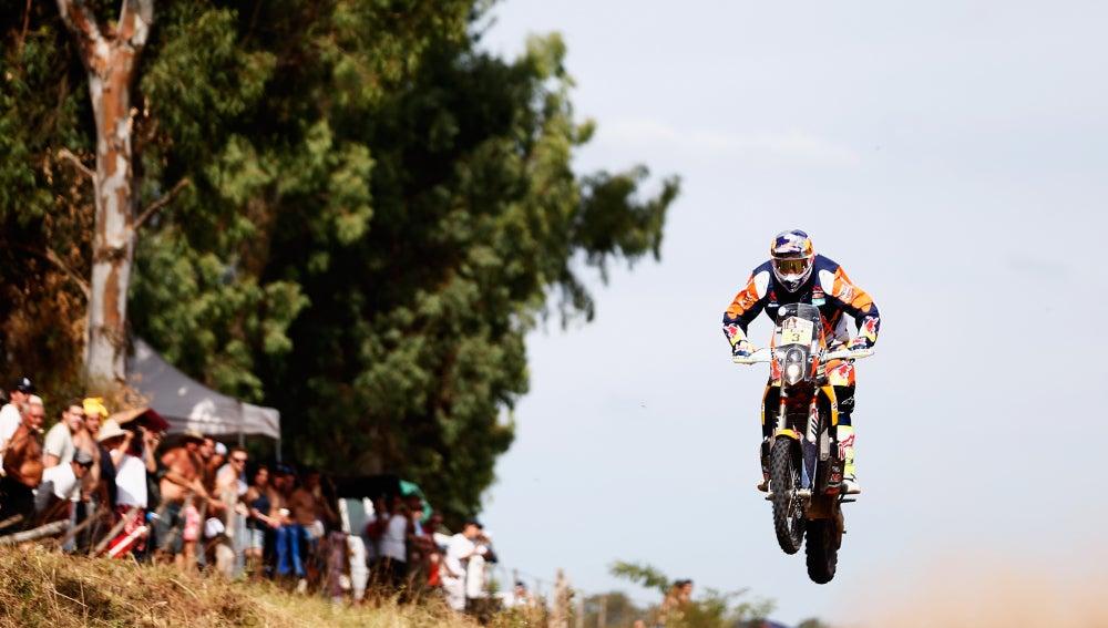 Toby Price, durante el Dakar 2016