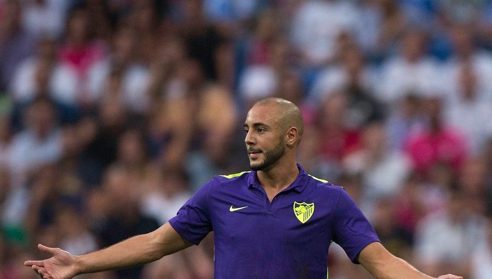 Nordin Amrabat, en un partido con el Málaga