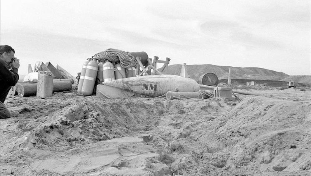 Una de las bombas nucleares que cayeron en Palomares