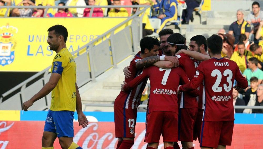 El Atlético celebra un gol ante Las Palmas