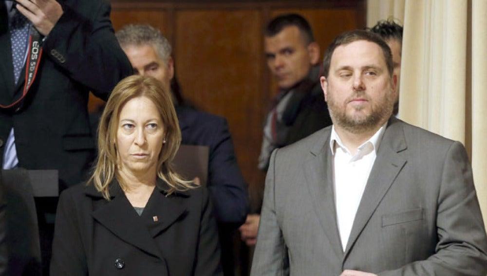 Neus Munté y Oriol Junqueras
