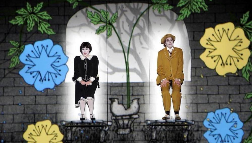Representación de 'La flauta mágica' de Mozart en el Teatro Real