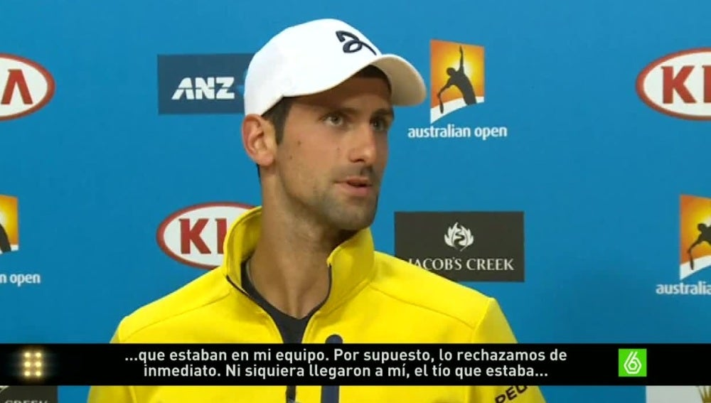 Djokovic comparece ante los medios