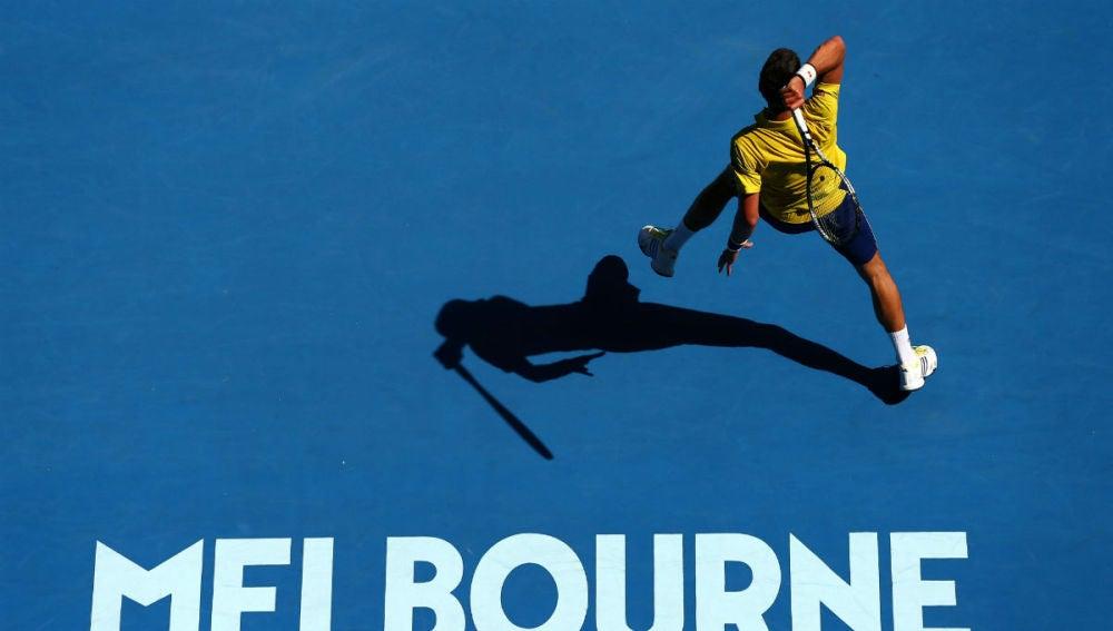 Novak Djokovic, en su debut en Australia