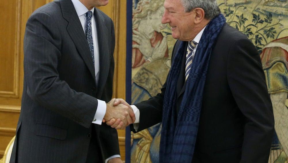 El Rey recibe a Pedro Quevedo