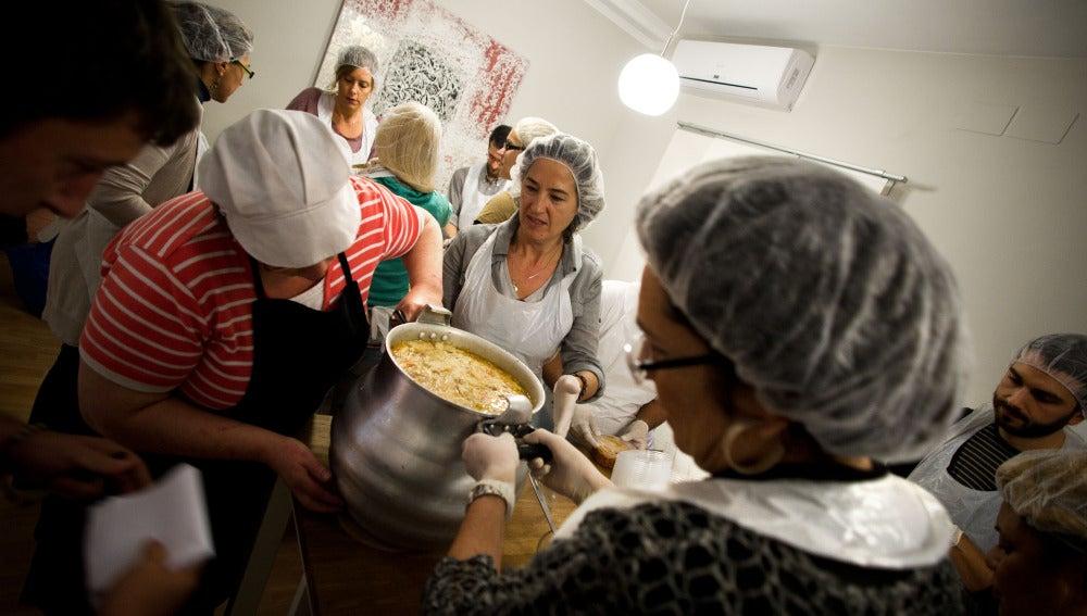 Un comedor social en Barcelona
