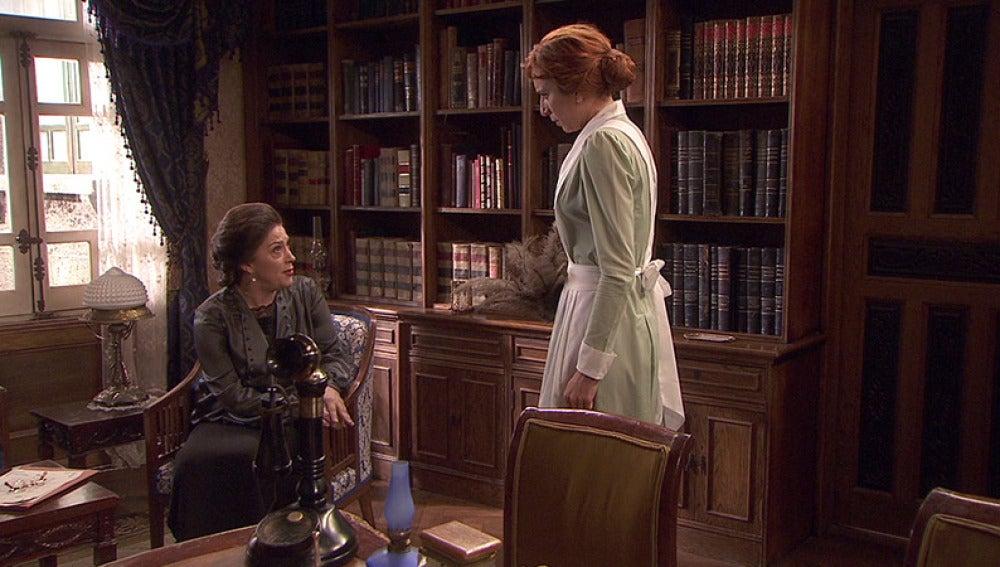 Francisca chantajea a Fe para obtener información de Beltrán y Aurora