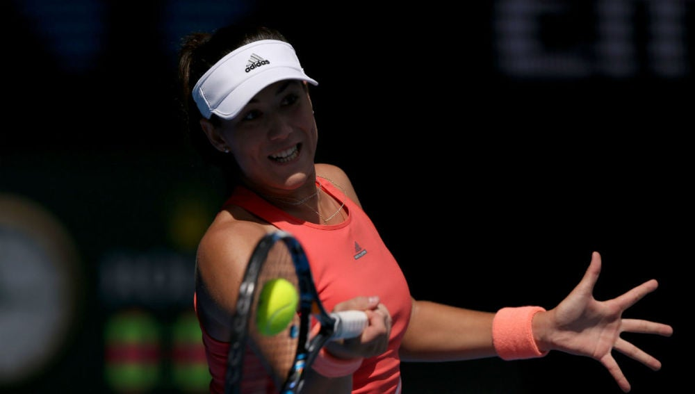 Muguruza, en su estreno en el Open de Australia