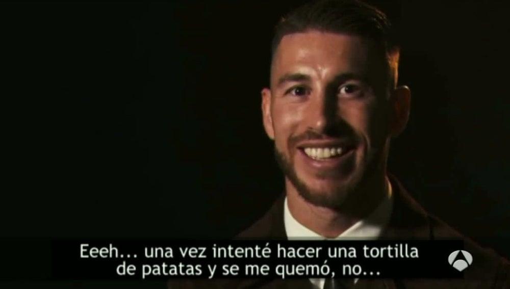 Sergio Ramos, durante una entrevista