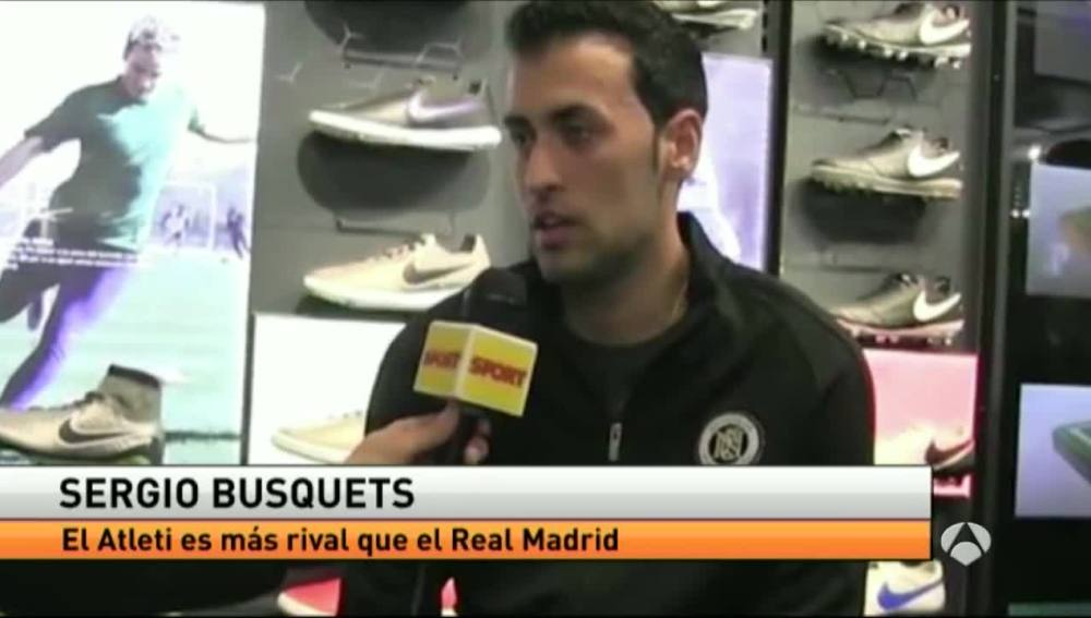 Sergio Busquets, durante una entrevista