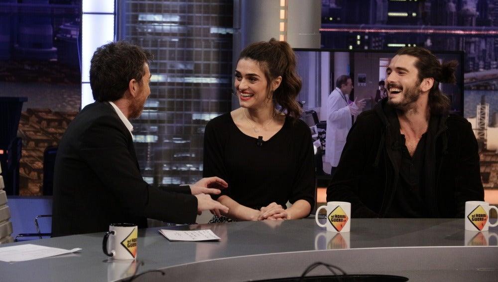 Pablo Motos, Olivia Molina y Yon González