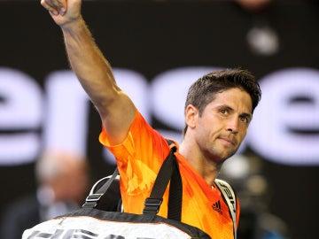 Verdasco tras ganar a Nadal y pasar a la segunda ronda del Open de Australia.