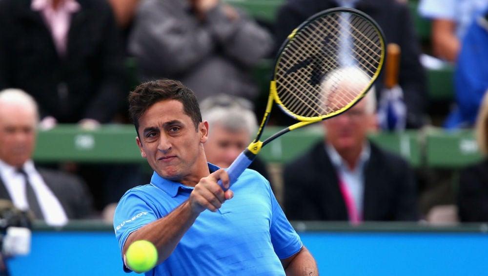 Nicolás Almagro, en el Open de Australia