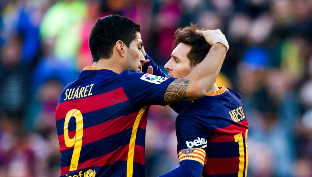 Messi y Suárez, en un partido del FC Barcelona