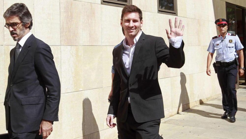 Messi, tras declarar en el juzgado de Gavà