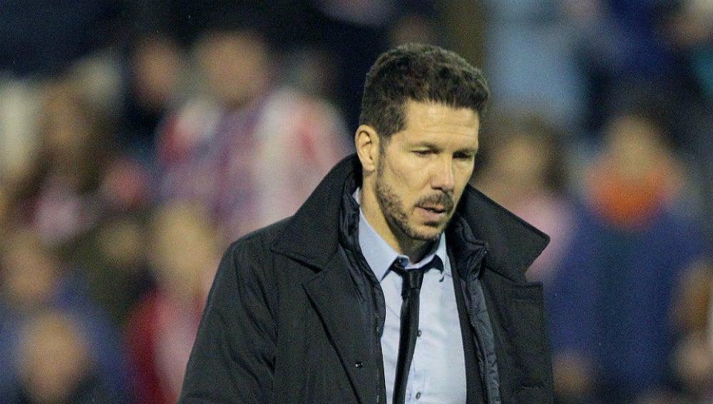 Simeone, durante el partido contra el Celta