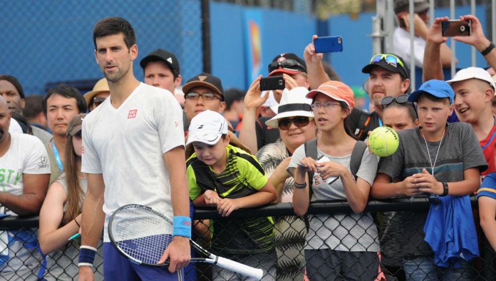 Novak Djokovic, en Melbourne
