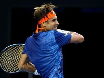 David Ferrer durante su partido ante Hewitt