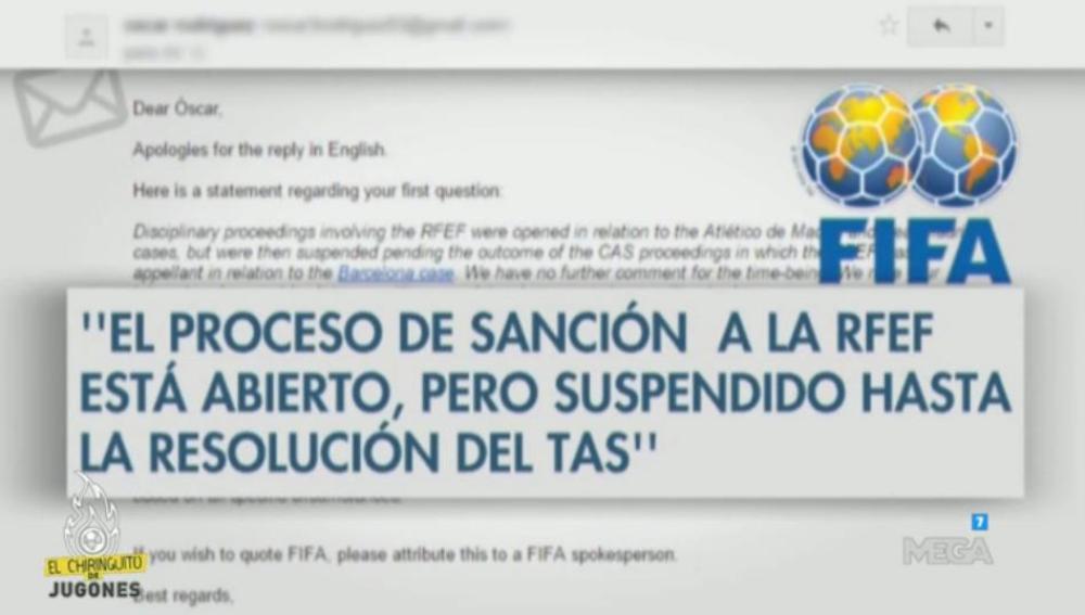 Sanción Fifa