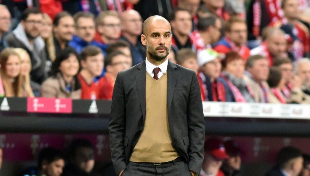 Guardiola, en un partido con el Bayern de Múnich