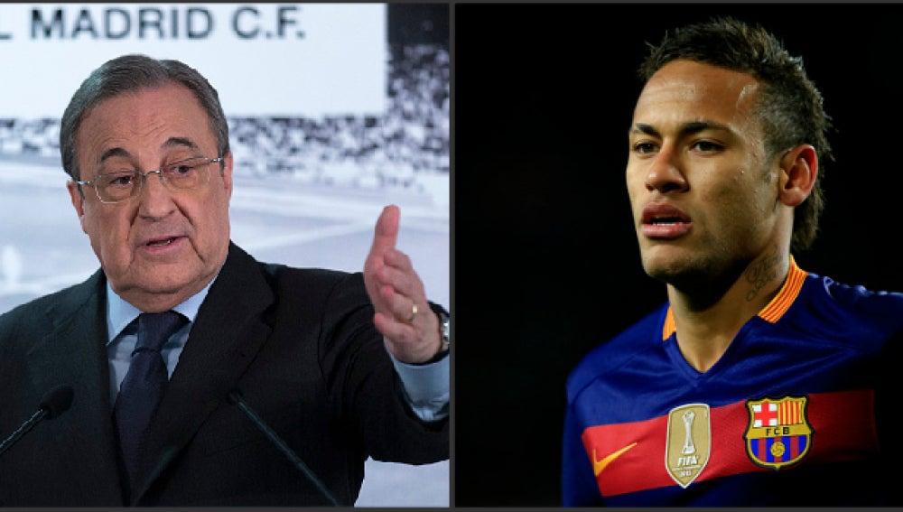 Florentino Pérez y Neymar