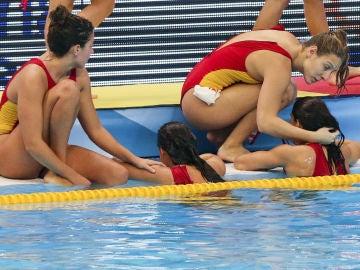 Las chicas de Miki Oca lamentan la derrota ante Italia