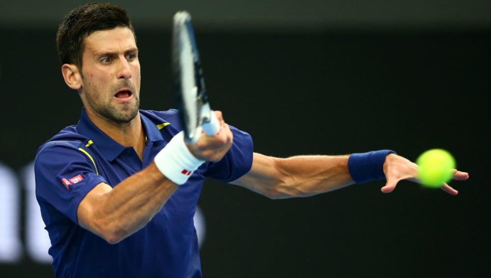Novak Djokovic, durante el partido contra Andrea Seppi