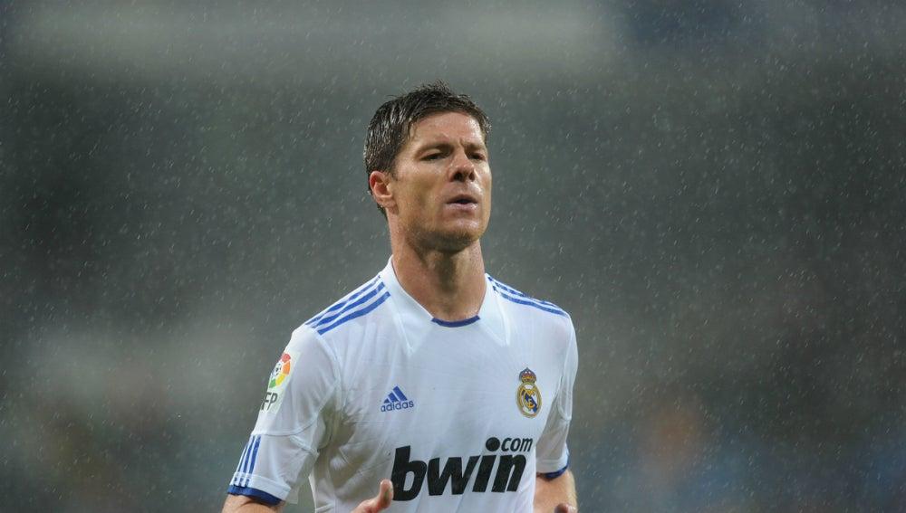 Xabi Alonso, durante un partido con el Real Madrid