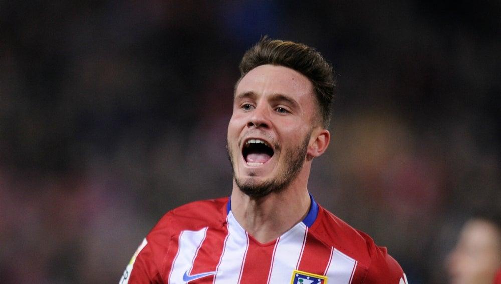 Saúl Ñíguez celebra un gol