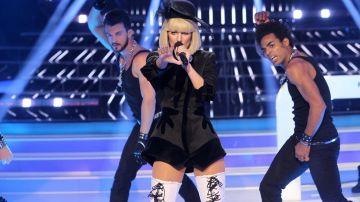 Edurne imita a Lady Gaga