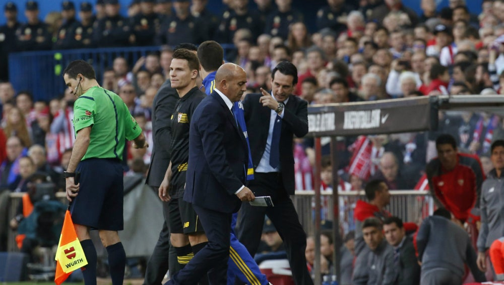 Emery, tras ser expulsado en el Calderón