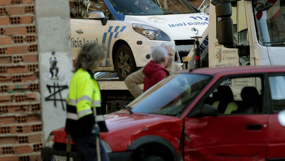 Uno de los coches afectados por la huida