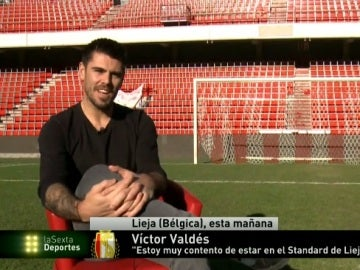Víctor Valdés ya se entrena con el Standard de Lieja