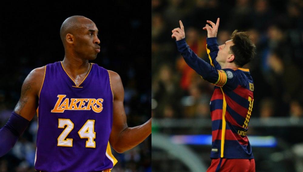 Kobe Bryant y Leo Messi