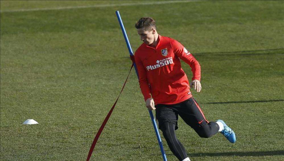 Fernando Torres en un entrenamiento