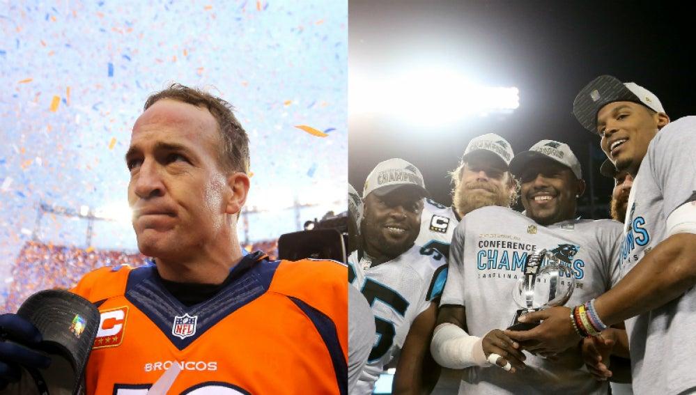 Broncos y Panthers, rivales en la Superbowl 50