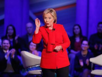 La asppirante demócrata, Hiillary Clinton.